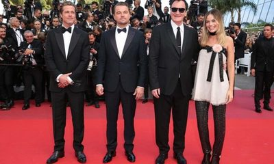 """Brad Pitt y Leonardo DiCaprio presentaron su película  """"Once Upon a Time in Hollywood"""" en el festival de Cannes"""