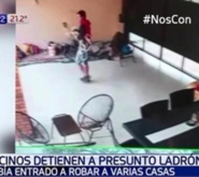 Cansados de robos, vecinos detienen a presunto asaltante