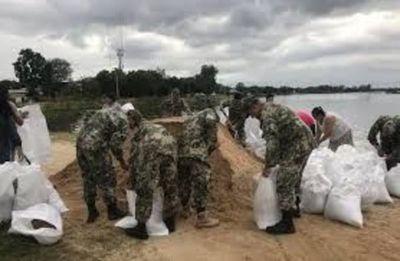 Pilarenses recuerdan desastre del 83 y fortalecen muralla de contención