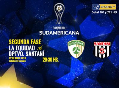 Santaní visita a La Equidad por la segunda ronda de la Sudamericana
