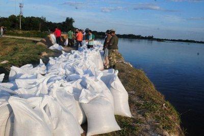 Pilar: piden bolsas y arena para zonas vulnerables