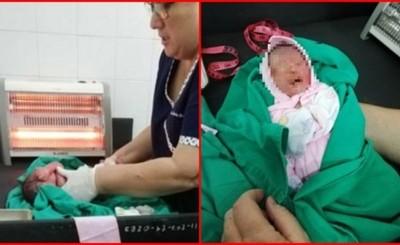 Abandonan a recién nacida en la vía pública