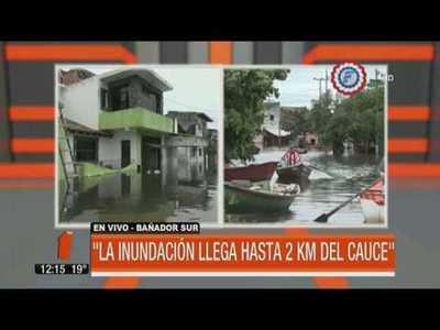Río Paraguay: a poco de los 8 metros en Asunción