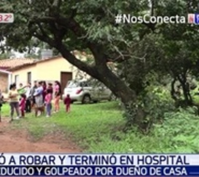 Dueños de casa frustran asalto y malviviente termina en el hospital