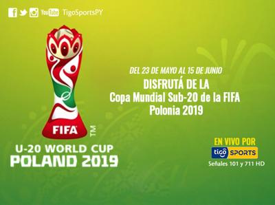 El Mundial Sub 20, Polonia 2019, se vive por Tigo Sports +