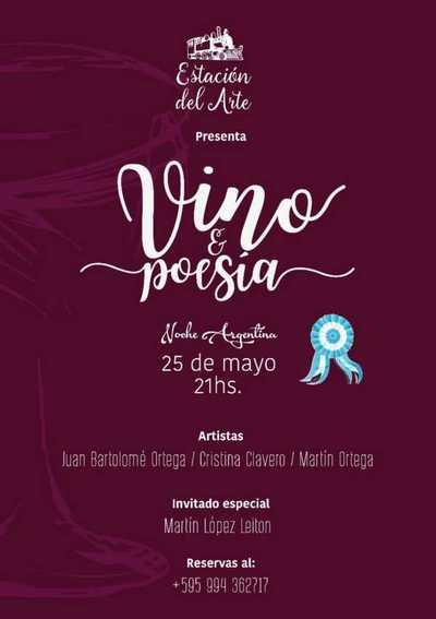 """Estación del Arte invita a la Noche Argentina """"Vinos y Poesías"""""""