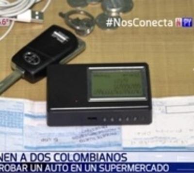 Detienen a dos supuestos robacoches colombianos