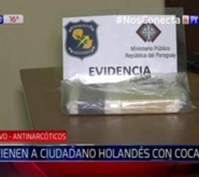 Ciudadano holandés detenido con 1 kilo de cocaína en su poder