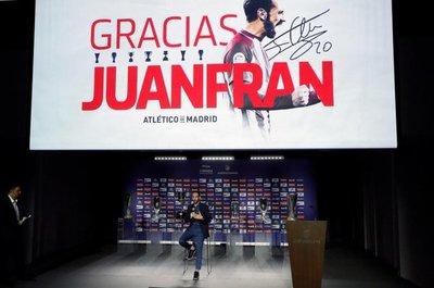 Juanfran se despide del Atlético