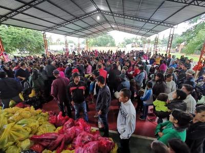 Entregan asistencias a miles de personas afectadas por crecidas en San Pedro