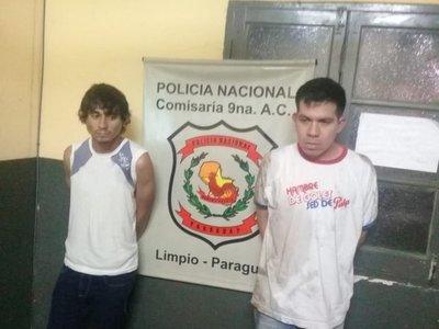 Detienen a asaltantes que robaron dinero y desodorantes