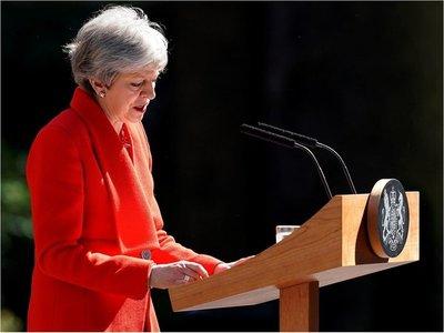 Theresa May, primera ministra de Reino Unido, anuncia su dimisión
