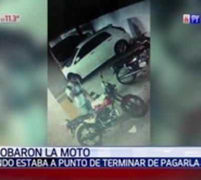 Le robaron la moto a días de pagar toda la cuota