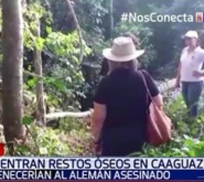 Restos óseos hallados en Caaguazú serían de alemán asesinado