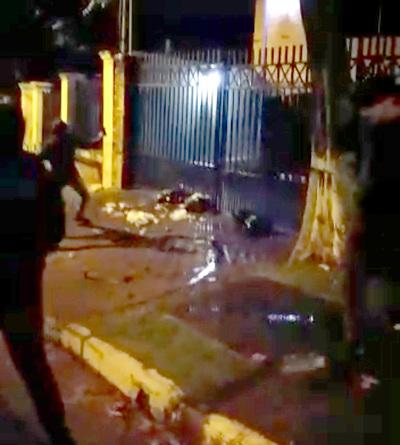Nery Chávez, escrachado frente a su casa