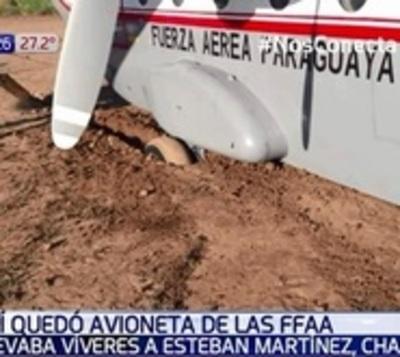 Avión del Estado que transportaba víveres quedó varado en el Chaco