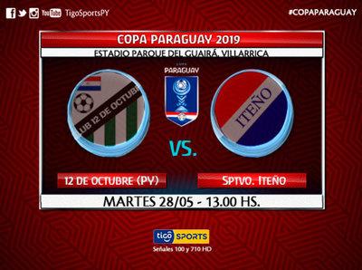 12 de Octubre de Paso Yobái e Iteño abren la Copa Paraguay