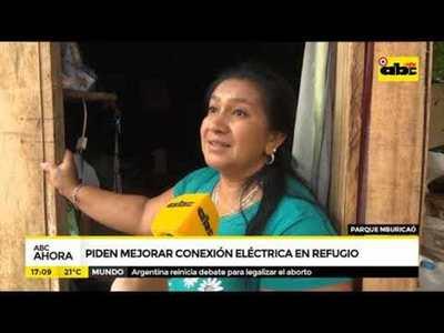 Piden mejorar conexión eléctrica en refugio