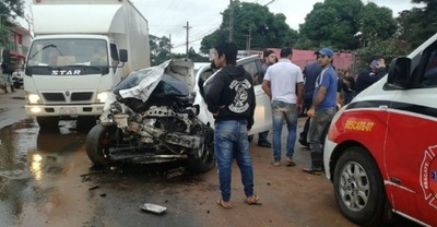 Accidente deja tres heridos en Capiatá