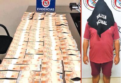 Detienen a un hombre con billetes apócrifos