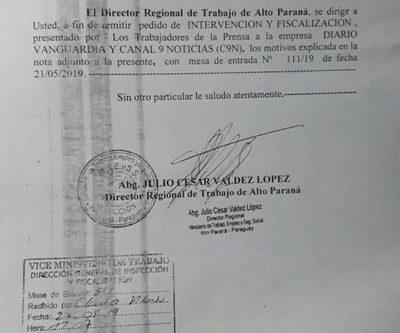 Ministerio de Trabajo intervendrá diario Vanguardia y C9N ante presuntos incumplimientos laborales