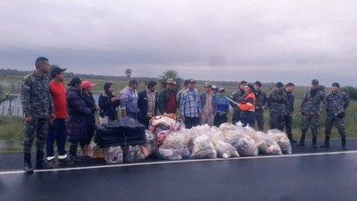 En zonas aisladas por inundaciones agilizan pago de Tekoporá