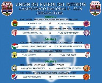 Programa de la 3ª ronda del Nacional B