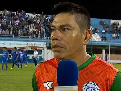 Junio Barbosa, emocionado por anotar en la Copa Paraguay