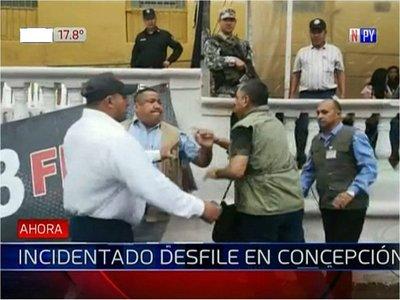 Incidentes durante desfile en Concepción