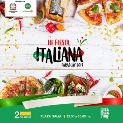 Celebrarán este domingo la Fiesta Italiana en Paraguay