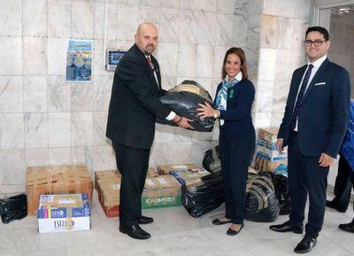Automotores acercó donaciones para damnificados