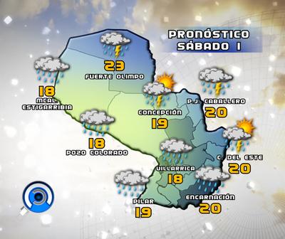 Persistentes lluvias en algunos puntos del país