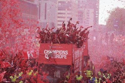 El gran festejo en las calles de Liverpool