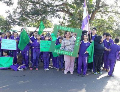 Campaña Lazo Verde en San Pedro