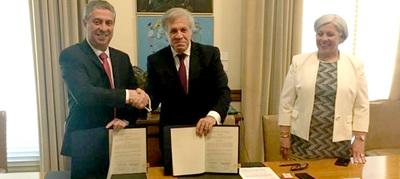 TSJE y OEA firman convenio para las elecciones municipales del 2020