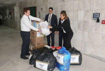 Llegaron donativos de oficinas judiciales para los damnificados