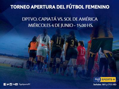 Capiatá y Sol, por las semis del fútbol de mujeres