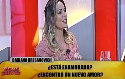 """Le preguntaron a Dahiana Bresanovich sobre """"su nuevo amor"""""""