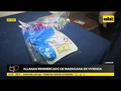 Allanan minimercado de marihuana en Lambaré