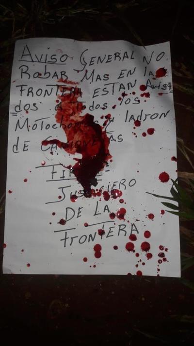 Matan a tres personas y sospechan de Justicieros de la Frontera