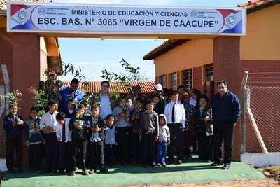 San Patricio: Inauguraron mejoras en la Escuela Virgen de Caacupé