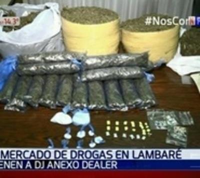 Cae Dj con varias dosis de droga en Lambaré
