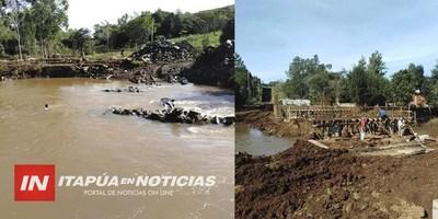AVANZA CONSTRUCCIÓN DE 3 PUENTES INTERDISTRITALES EN TOMÁS ROMERO PEREIRA.