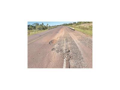 Ruta Concepción-Vallemí, muy deteriorada