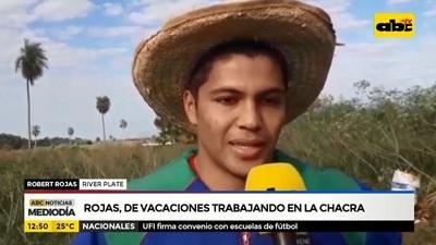 Robert Rojas: Del Monumental de Núñez a cosechar mandioca en la chacra