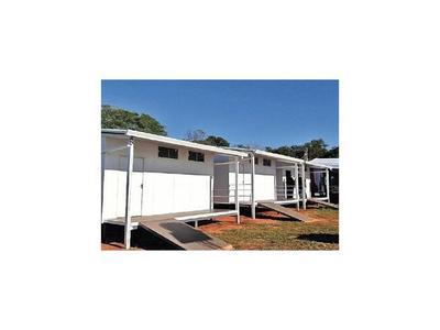 Inauguran aulas prefabricadas en San Pedro