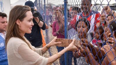 Angelia Jolie pide más esfuerzos para atender a los migrantes venezolanos