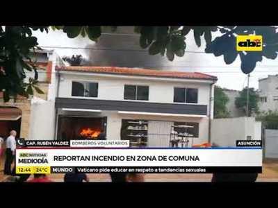 Reportan incendio en zona de comuna