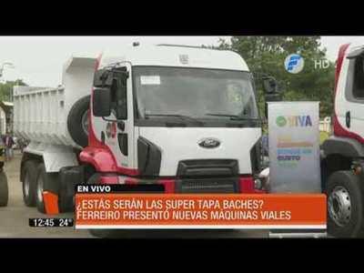 """Nuevos camiones """"tapabaches"""" en Asunción"""