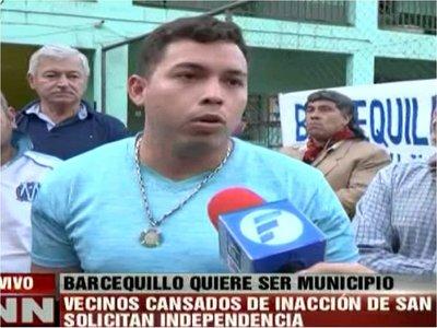 Pobladores de Barcequillo buscan independizarse de San Lorenzo